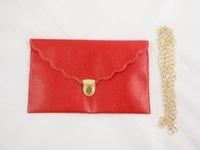 Wholesale PU Ladies Scalloped Edge handbag Womens Envelope Scalloped Edge Clutch Purses Lady Handbag Tote Shoulder Hand Bag
