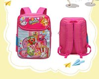 apple printed books - SHOPkin quot Girls Cartoon Candy Book Bag Chocolate Apple Backpack Shoulders Kid s Bag Large School Backpack Moose All Over Prints Gift