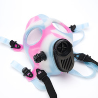 Cheap 2pcs Mask Only Luminous Solid Colored Mixed Colored Healthy Silicone Gas Mask Colorful Smoking Glow In Dark Filter Tool Christmas 125