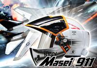 Wholesale Masei Xcross US Navy F14 Tomcat Motorcycle Pilot Open Face Arai Helmets S M L XL