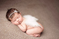angels snow - 2016 new newborn infant Handmade feather Angel wings baby baby Fashion style snow flowers Headbands children photography props