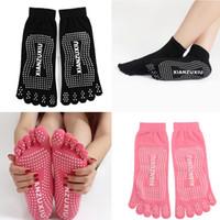 Wholesale Women Cotton Antiskid Toe Sock Fitness Breathable Indoor Exercise Workout Pilates Sports Yoga Socks