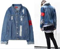 beige jean jacket - 424 Brassard Solid Jacke Very Good Quality Nice Hipster Hoodies With Fleece Warm Winter Mens Kanye West Jean Jacket Olive
