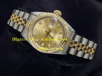 Wholesale Ladies Luxury Watch Top quality Ladys TONE K GOLD SS WATCH w DIAMOND Automatic Watch Perpetual Women s Watches