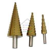 Livraison gratuite New 3pcs Grand Step Drill HSS Titanium Bits à cône en bois Forage au Set Scie 4-12mm 4-20mm 4-32mm pour $ 18Personne piste