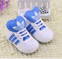 Wholesale 5COLOR pu canvas toddler shoes patterned adhesive tape soft bottom shoes Newborn girl cotton indoor prewalker