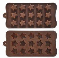 achat en gros de des moules de savon-Silicone Ice Mould Chocoholics 15 Grig Silicium Moules Star Pour Home Made Cake Décorer Outils Savon Moule