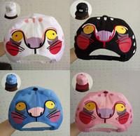 big cats types - Hot Sale New Style Cartoon Snapback Hats Adjustable Caps Popular Men And Women hat Baseball cap Big Face Cat Type Caps colors