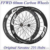 Wholesale FFWD F6R Carbon Wheels mm Fast Forward Road Bike mm Bicycle Carbon Wheelset C Carbon Rims Clincher Tubular With Novatec Hubs