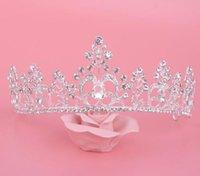 Wholesale Elegant crystal headwear bridal wedding new design fashion bridal tiara jewelry factory price