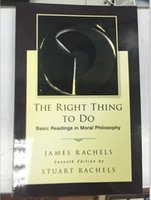 basic books - 2015 books USED The Right Thing To Do Basic Readings in Moral Philosophy PC