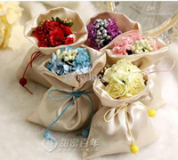 Cheap Favor Bags Wedding Gifts Bags Best Pink Nonwoven Fabric bouquet wedding