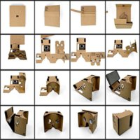 Wholesale Hot DIY Magnet Google Cardboard Virtual Reality VR Box Mobile Phone D Viewing Glasses For quot Screen Google VR D Glasses