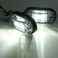 Wholesale 1pc v v LED Trailer Truck Clearance Side Marker Light Submersible Width lamp Clearance Lamp Car Styling