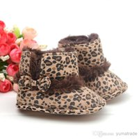 Wholesale 3 Pair Baby Infant Toddler Boys Girl Warm Winter Snow Shoes Leopard Boots