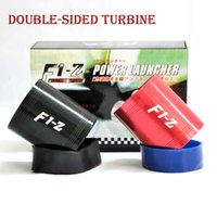 Wholesale high quality F1 Z Supercharger Turbo Air Intake Fuel Saver Fan w Double Propeller Optional Red Blue Black Silver