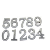address signs - Silver Digits House Hotel Door Number Address Plate Sign Size x30mm Self Adhesive Sticker Alloy Room Gate Number