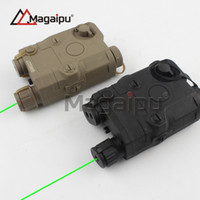 Wholesale Magaipu Tactical AN PEQ Cheap edition green Laser with White LED Flashlight Torch IR illuminator For Hunting Outdoor Black Dark Earth