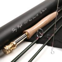 aluminium tube flies - Fly Fishing Rod IM12 T Toray Carbon FT WT Half well Fast Action With Aluminium Tube Carbon Fly Rod
