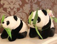 big panda bears - 55CM large squat panda doll super mario plush toy stuffed animals stuffed big teddy bear panda