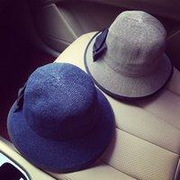 Wholesale Hot Fashion Vintage Women Ladies Floppy Wide Brim Brim Hats Wool Felt Cloche Hats Cap Bow Hat Summer Hats For Women