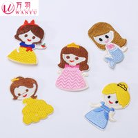 bag wan - 2016 Real Sale Parches Ropa Parches Bordados Wan Yu S Small Cartoon Cloth Stick Lovely Girl Patch Sticker T Shirt Sweater Bag