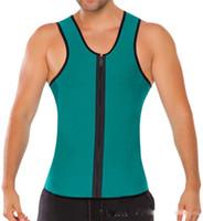 army corset - 100pcs S XL Colors Men Shoulder Straps Waist Trainers Latex Sport Waist Cincher Vest Rubber Steel Boned Waist Trainer Corset Shapewear