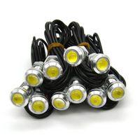Cheap 10 x 18mm 12V 3W White LED DRL Daytime Driving Running Fog Eagle Eye Light Lamps