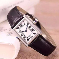 Wholesale Fashion Women Dress Watches Casual Rectangular Leather Strap Relogio Feminino Luxury Brand Lady Tank Quartz Wristwatch