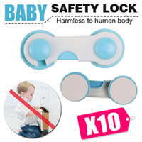 Wholesale 10X Premium Child Kid Baby Safety Lock For Door Drawer Cupboard Cabinet Adhesive baby Safety Drawer Locks Baby Cabinet Lock child Care item