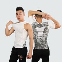 Wholesale Fashion men t shirt fitness t shirts short sleeve Imitation leather sexy compression men TOPS and tees JL JSY