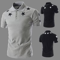Wholesale 2016 Korean summer new stars print men s fashion short sleeve POLO shirt men s sense of style through the body