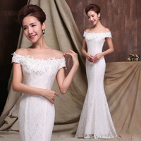 Cheap 2016 Long Bridesmaid Dresses Mermaid Royal Blue White Off Shoulder Short Sleeves Fashion Formal Prom Party Gowns Real Pictures