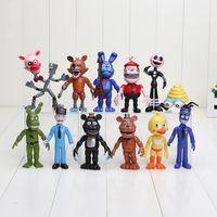 Wholesale 10 cm set PVC Five Nights At Freddy s Action Figures Toys Foxy Freddy Fazbear Bear Doll kids toys