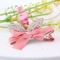 baby prince charming - New Baby Bow Hairpins Kids Hair Accessories Charming Princes Full Rhinestone Barrette Ribbon Bow Girls Princess Hair Clip