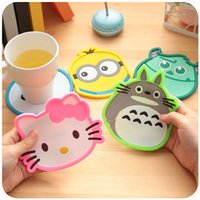 Wholesale 16 Cute cup mat for table Placement Silicone coaster Table decoration Stationery Office school supplies