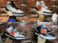 Cheap Air Retro 3 black white cement GS infrared wolf grey Version Men Women basketball shoes sneakers Good Quality Version US size 5.5-13