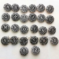 alphabet animals pictures - Alphabet Metal Snap Button For Bracelet Picture Pendant Odm oem Zm161 DIY Jewelry making Fit for necklace bracelet ring