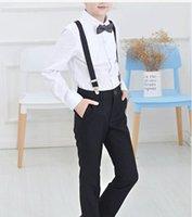 Wholesale Boy long sleeve dress suit wedding flower children s evening dress school spring performance