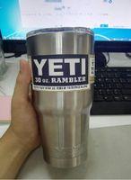 Wholesale 2016 Bilayer Stainless Steel Insulation Cup OZ YETI Cups Cars Beer Mug Large Capacity Mug Tumblerful