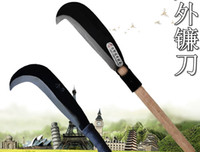 agricultural gardening tools - 1 m scythe sickle iron handle gardening tools agricultural sharp mower blade grinding Free