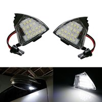 auto lamps plus - 2X Error Free LED White LED Under Side Mirror Puddle Light Car Lamp Auto Bulbs Fit For VW EOS Passat Jetta Golf Golf Plus