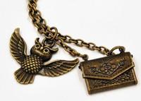 acceptance letter - Flying Hedwig Post Owl Of School Harry Potter Necklace Owl Post Necklace with Hogwarts Acceptance Letter pendant locket Hogwarts envelope