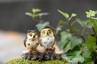 antique bird figurines - 4 Style Micro Mini Fairy Garden Miniatures Figurines Owl Birds Animal Action Figure Toys Ornament Terrarium Accessories Movie Props jy769