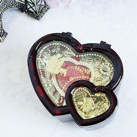 antique wooden music box - Heart Shape Dancing Music Box Wooden Mechanical Musical Box Girls Carousel Hand Crank Music Box Mechanism For New Gift