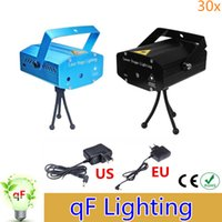 Wholesale Holiday Sale Blue Mini Laser Stage Lighting mW Mini Green Red LED Laser DJ Party Stage Light Black Disco Dance Floor Lights