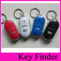 bags sounds - LED Sound Control Lost Key Torch Finder Keyring Keychain Key finder whistle devices will ring flash LED Keychain Bag Hanger anti lost Alarm