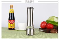 Wholesale Stainless Steel Manual Salt and Pepper Mill Grinder for cooking kitchen Manual Pepper Mill