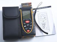 Wholesale hot sale m ft Laser distance meter bubble level Rangefinder Range finder Tape measure Laser rangefinder