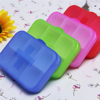Wholesale 200pcs Portable Eco friendly Cells Pill Box Travel medicine pills Storage Case Refillable box
